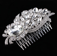 Great gatsby mariée cheveux peigne, strass, cristal vintage slide, art deco 1920s