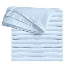 Clips N Grips Birdseye Flatfold Cloth Diapers, (Baby Blue)