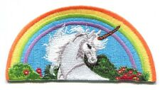 UNICORN with rainbow EMBROIDERED IRON-ON PATCH **FREE SHIPPING** p4133 gay pride