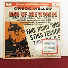 Orson Welles Vinyl  LP War of the Worlds 1968 EX