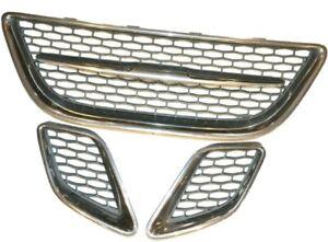 05-09 Saab 9-7x 97x Front Upper Center & side Grille Bumper insert Chrome OEM