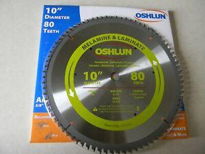 """Oshlun  10"""" 80t Melamine cutting  Blade  SBL-100080"""