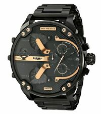 32ce6b6fa0c Diesel Men s Mr. Daddy 2.0 Black Ion-Plated Stainless Steel Analog Watch  DZ7312