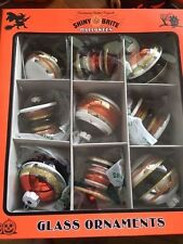 Box of 9 Shiny Brite Halloween Christopher Radko Mercury Glass Ornaments Nib