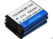 new 3x BP-70A Battery for Samsung ES73 ES74 ES75 ES78 ES80 ES90 ES91 ES95 PL100
