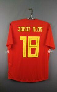 Jordi Alba Spain Authentic jersey Large 2018 2019 shirt  BR2724 Adidas ig93