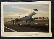 Concorde End of an Era Mike Bannister Signed Limited Edition Print Last Flight