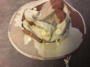 Chapeau de brousse camouflage Désert 57 original sable armée française bob