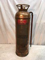 Vintage Red Star  Fire Extinguisher, Brass & copper, empty United States Navy