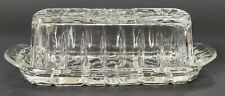 Vintage Anchor Hocking Prescut Clear Star of David 1/4 lb. Covered Butter Dish