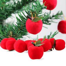 12pcs Rojo Apple Colgante Adornos Para Navidad Árbol De Decoración Fiesta Nuevo