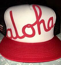 Aloha Army HI Farmers Market Supreme Snapback Hat Black Red New