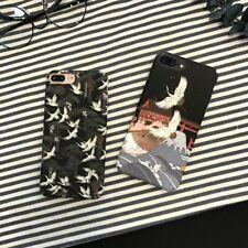 Cartoon Crane Phone Case Luxury Bird Hard Cover for iPhone XR XS 6S 7 8 Plus