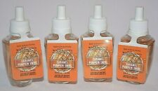 4 BATH & BODY WORKS WALLFLOWERS HOME FRAGRANCE REFILL CARMEL PUMPKIN SWIRL BULB