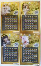 Bling Bling Jewelry Instant  Lottery Ticket Set of 4 different cute animals