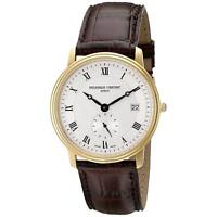 Frederique Constant Men's Slimline Quartz Gold-Tone Case 37mm Watch FC-245M4S5