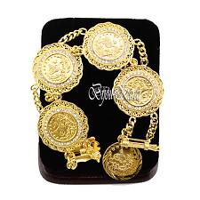 Altin Ceyrek Tugra Bileklik Münzen Gold Münz Armband Strass  24 Karat Vergoldet2
