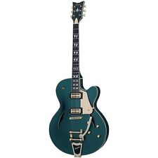 Schecter Coupe Dark Emerald Green DEG Hollow Body B-Stock Electric Guitar Bigsby