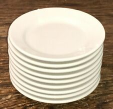 Homer Laughlin Usa Best China Set Of 9 White B&B Side Plates Hvy Duty Rest Ware