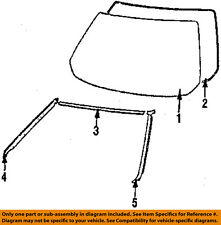 TOYOTA OEM 85-89 MR2 Windshield-Reveal Molding 7553117010