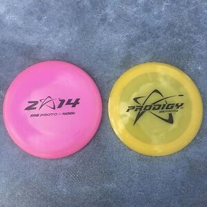 Prodigy Disc Golf Prototype Lot D5 Pop Top 174g & Pink M5 Proto 180g NO INK