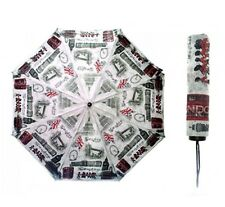 LONDON FAMOUS ICON COMPACT TRAVEL UMBRELLA BRITISH ENGLAND UK SOUVENIR GIFT