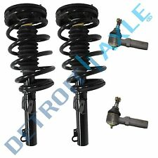 2 New Complete Front Quick Install Strut Assembly w/ Spring & Mount tie rod