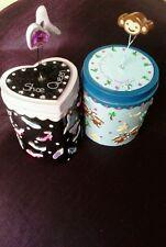 Trinket boxes jewellery storage pretty shoe heart pot friends gift