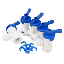 """Tank Ball Valve 1/4"""" FPT X 1/4"""" TUBE for RO Water Reverse Osmosis Filter system"""