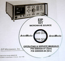 EIP 931 MICROWAVE SOURCE OPERATING AND SERVICE MANUAL