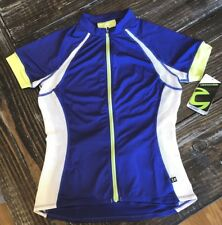 CANNONDALE Women Cycling Athletic Semi Fit Full Zip Prelude Jersey Shirt BLUE M