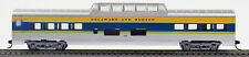 HO 72 Ft Pass. Mid Train Dome Car , RTR Delaware & Hudson(Slvr/Blue/Ylw)(1-940L)