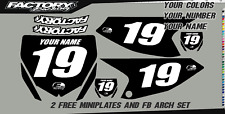 Yamaha YZ 65 18-19 Pre Printed Number plate Backgrounds  PLAIN BLK BG