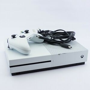 Xbox One S Game Console With Controller and Cables (READ DESCRIPTION)