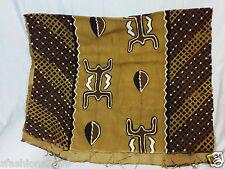 "African mud cloth fabric bogolan bogolanfini Hand Crafted MudCloth Mali 68""X40"""