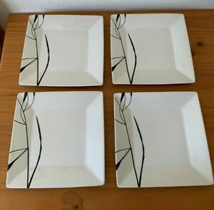 """Oneida Simple Floral 10.75"""" Square Dinner Plates - Set of 4"""