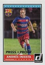 Donruss Soccer 2015 Silver Parallel Base Card [199] #72 Andres Iniesta