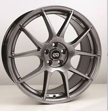 17x7.5 Enkei YS5 5x108 +45 Hyper Black Rims Fits Ford Lincoln mercury