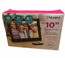 Aluratek 10-Inch Digital Photo Frame w/ 4GB Built-In Memory | New/Open Box