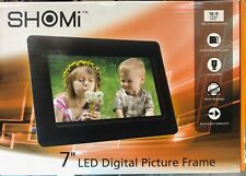 BRAND NEW Shomi SP706P1, 7″ Digital Picture Frames BLACK