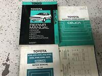 1989 Toyota Celica Service Repair Shop Workshop Manual Set W EWD & Transaxle Bk