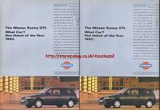 Nissan Sunny GTI Car 1993 Magazine Advert #2337