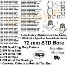 72.00MM Piston Ring Set SKI-DOO FORMULA SL /'95-99 497cc