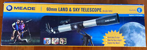 Meade Beginner-Intermediate Telescope (RB-60) With Tripod Included New With Box