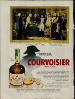 1956 Courvoisier Cognac Napoleon Recoit Vintage Print Ad 2990