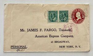 1909 USA/Canada Mixed Franking Montreal to Treasurer AMEX Broadway New York