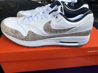 Nike Air Max 1 G NRG TXT White Atmosphere Grey Snakeskin size 11 (CI6876-101)
