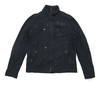 Next Mens Size M Cotton Black Bomber Jacket