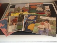 Knitting Patterns Vintage Baby & Child Emu Robin Jumpers Hats Mittens 30 Total