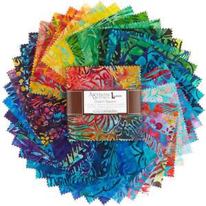 "Robert Kaufman Charm 5"" Square Artisan Batik Totally Tropical 42 Piece"